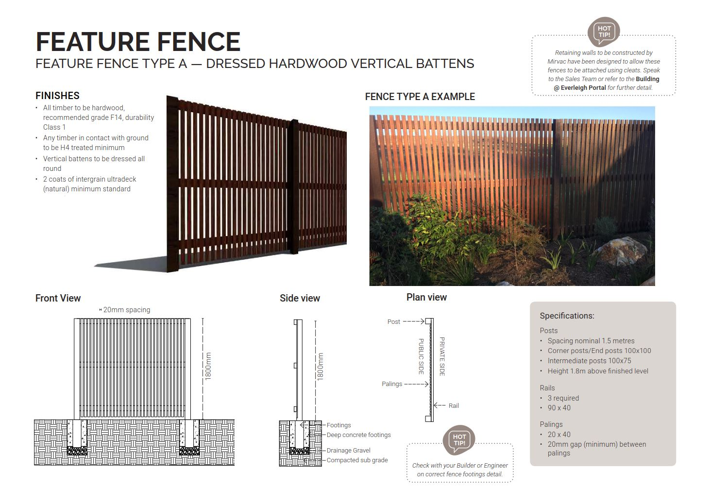 Type A Fence